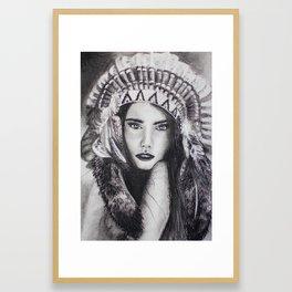 Native Beauty Framed Art Print