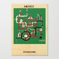 mexico Canvas Prints featuring Mexico by federico babina