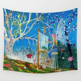 Fairy Artist Wall Tapestry