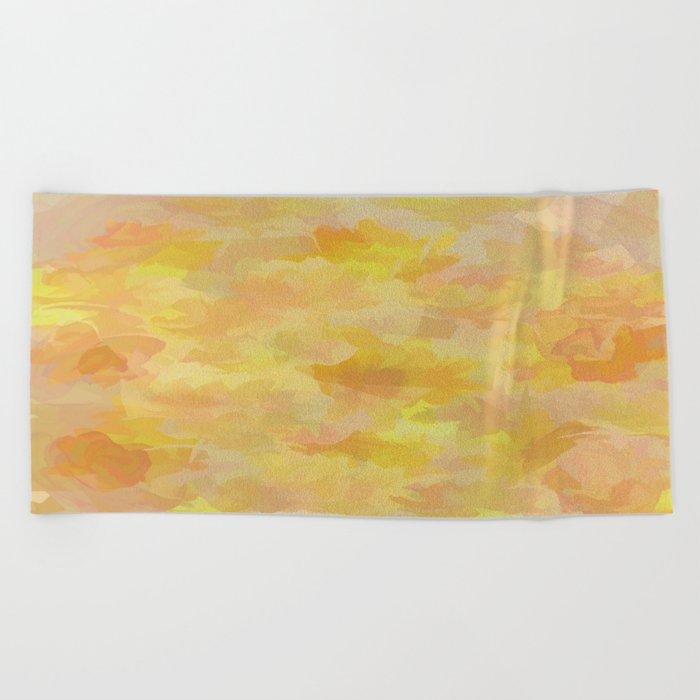 Floating Flowers Painterly Abstract Beach Towel