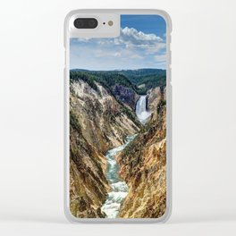 Grand Canyon of Yellowstone River and Lower Falls from Artist Point Clear iPhone Case