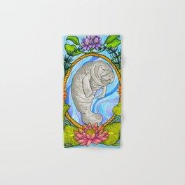 Manatee and Water Lilies Hand & Bath Towel