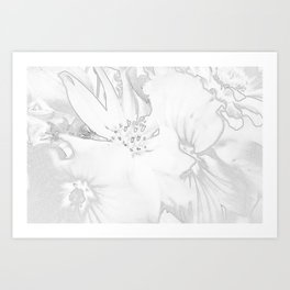 Flower bouquet...BW Art Print