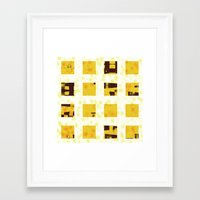 yellow pattern Framed Art Prints featuring Yellow by SensualPatterns