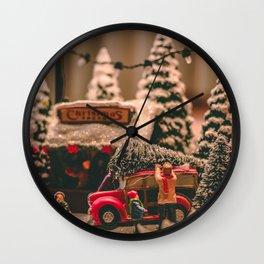 Tiny Christmas Town (Color) Wall Clock