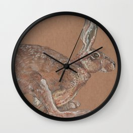 Racing Hare Wall Clock