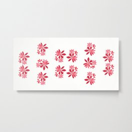 Flowers Red and White Collection Metal Print