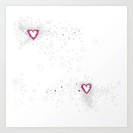 Digital Unfinished Love Intoxication Art Print