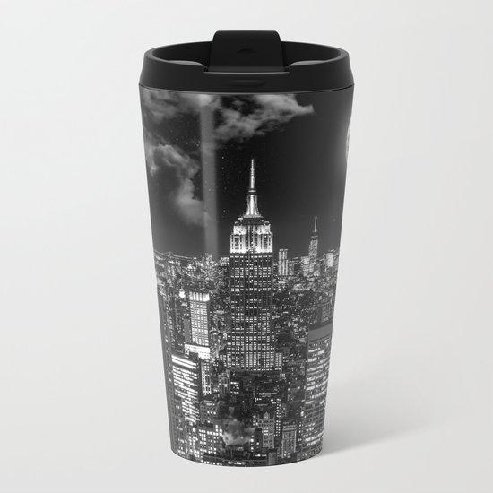 New York Under the Moon Metal Travel Mug