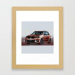 Bavarian car X5 by Artrace Framed Art Print