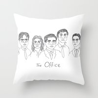 cactei Throw Pillows featuring The Office by ☿ cactei ☿