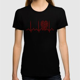 Music Teacher Heartbeat T-shirt