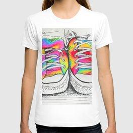 Walk a Mile in my Chucks T-shirt