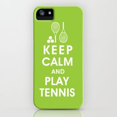 Keep Calm and Play Tennis iPhone (5, 5s) Slim Case