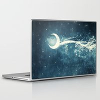 river Laptop & iPad Skins featuring Moon River by Paula Belle Flores