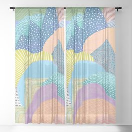 Modern Landscapes and Patterns Sheer Curtain