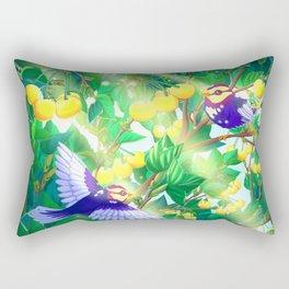 The seasons | Summer birds Rectangular Pillow