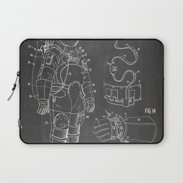 Nasa Apollo Spacesuite Patent - Nasa Astronaut Art - Black Chalkboard Laptop Sleeve