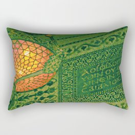 Chicago Cultural Center ~ architecture tiffany lamp detail Rectangular Pillow