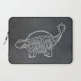 Ankylosaurus Dinosaur (A.K.A. Armored Lizard) Butcher Meat Diagram Laptop Sleeve