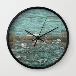 Waves on the Rocks Wall Clock