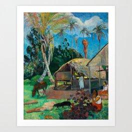 The Black Pigs by Paul Gauguin, 1891 Art Print