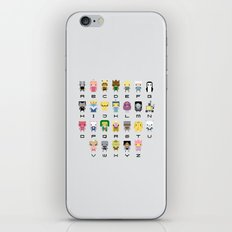 Ad Venture Time Alphabet iPhone & iPod Skin