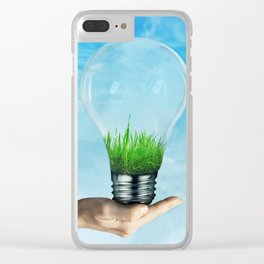 Save Green Concept Clear iPhone Case