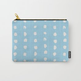 Hand Drawn Ink Dots - Sky Blue Carry-All Pouch