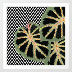 Chevron Black Art Print