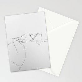 Leaves with folded hands Stationery Cards