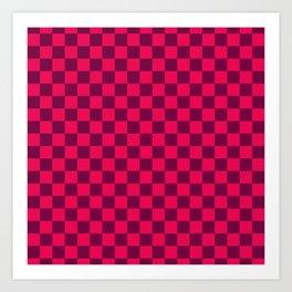 Checkered Pattern IV Art Print