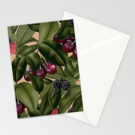 FRUITS AND LEAVES Stationery Cards