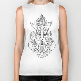 Ganesha. Hand drawn illustration Biker Tank