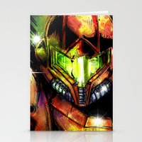 samus Stationery Cards featuring Samus by Vincent Vernacatola