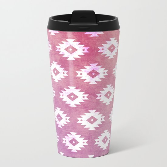 Aztec Pattern 10 Metal Travel Mug