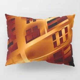 Abstract 379 Orange Geometric Windows Pillow Sham