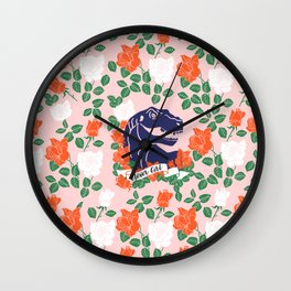 Dinosaur with Roses, Clever Girl Wall Clock