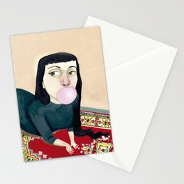 * CHICA MASCANDO CHICLE * Stationery Cards