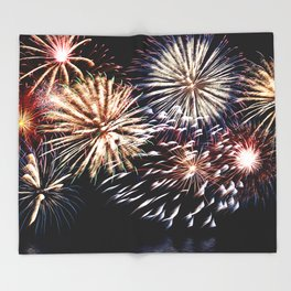 celebration fireworks Throw Blanket
