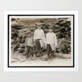 The Davison Family - Newspaper Boys Art Print