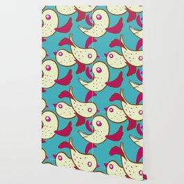 Birds - Deeppink Wallpaper