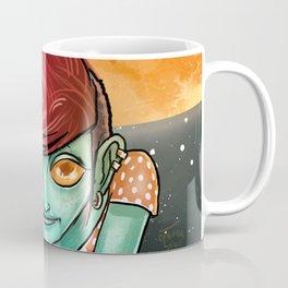 Martian cute girl in the space Coffee Mug