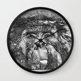 AnimalArtBW_Chimpanzee_20170902_by_JAMColorsSpecial Wall Clock