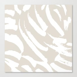 Neutral Brush Strokes Canvas Print