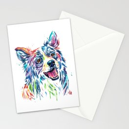 Border Collie Painting Stationery Cards