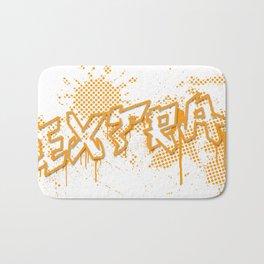 extra splash orange grafitti design Bath Mat