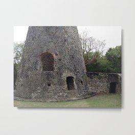 Virgin Islands, Sugar Mill Stone Ruins Metal Print