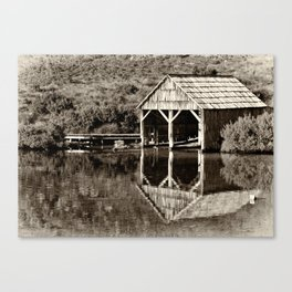 Heritage Boat House Canvas Print