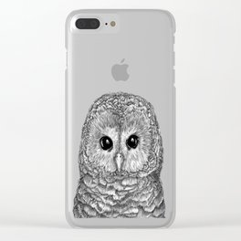 Tiny Owl Clear iPhone Case